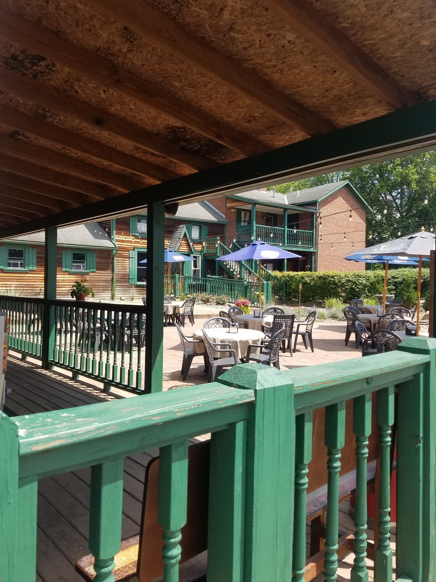 Outdoor dining available during the warmer months.